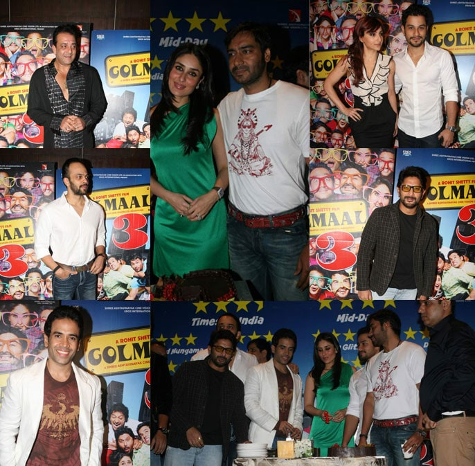 Kareena, Ajay at Golmaal 3 Success Bash