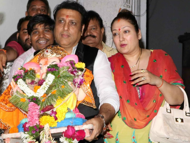 Govinda And Family Bid Farewell To Ganpati Bappa