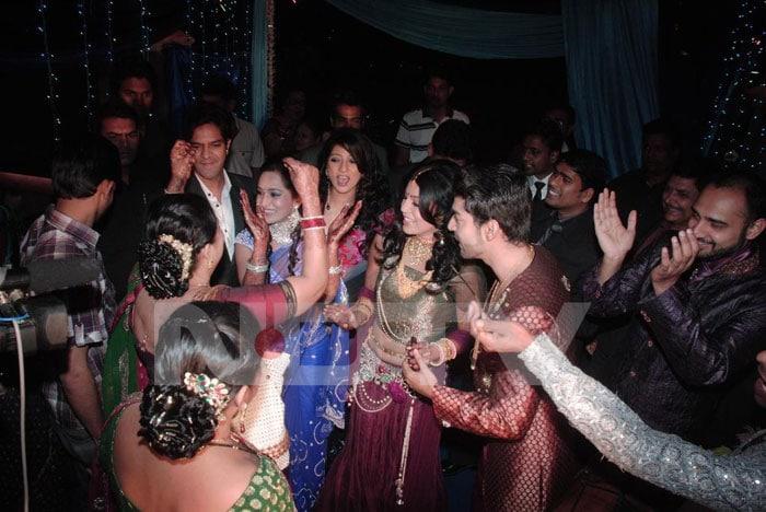 TV Actors Gurmeet and Debina's reception