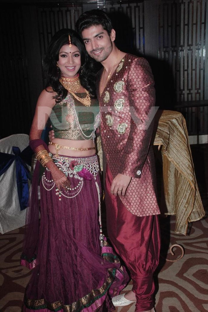 TV Actors Gurmeet and Debina\'s receptiongurmeet and debina
