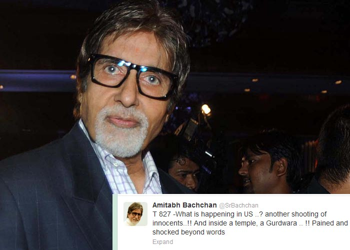Bollywood condemns US gurudwara shooting on Twitter