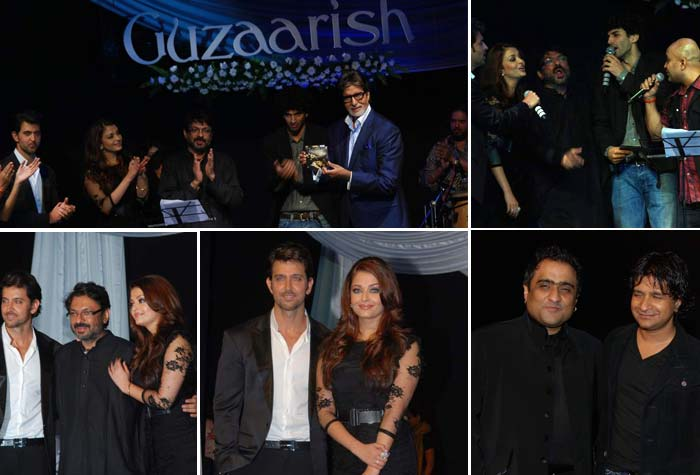 Ash, Hrithik at Guzaarish music launch