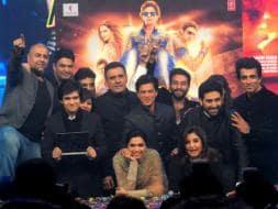Photo : Deepika, SRK, Indiawaale Launch Happy New Year Music