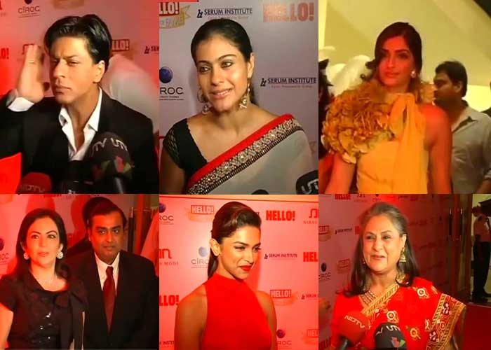Stars shine at 'Hello!' Wall of Fame Awards 2011