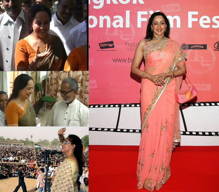 Hema Malini's political side