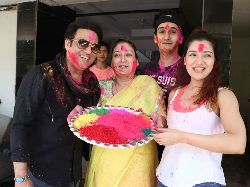 Holi With Govinda, Alia And Varun