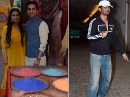 Photo : Holi Celebrations at YRF Studios With Ayushmann, Bhumi Pednekar, Sushant