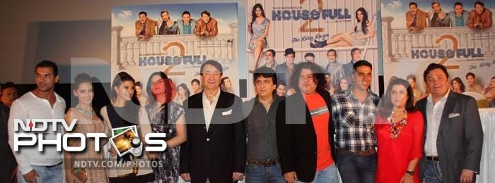 John, Akki, Jacqueline at Housefull 2's first look launch