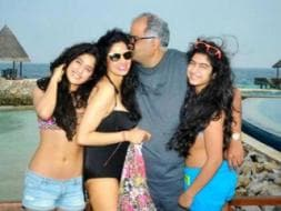 Photo : New year on the beach: Sridevi and family