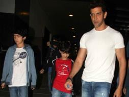 Photo : Hrithik Roshan Is Daddy Cool For Sons Hrehaan, Hridhaan