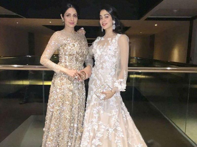 Sridevi And Jhanvi Glam Up Hyderabad Wedding