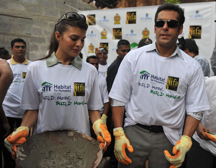 Salman, Jacqueline visit war-torn village in Sri Lanka