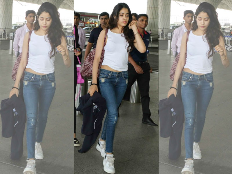 How To Ace The Airport Look Like Jhanvi Kapoor