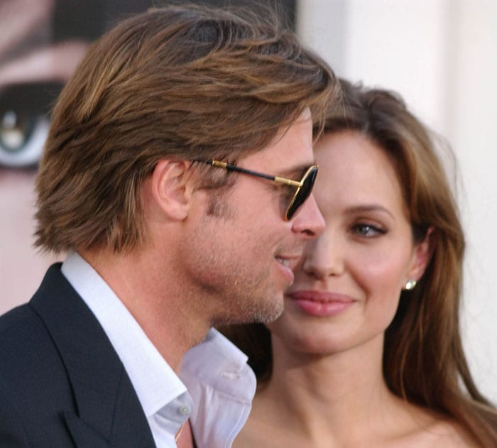 Jolie, Pitt at the premiere of Salt