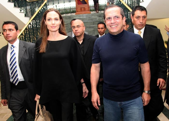 Angelina halts engagement celebrations to visit Ecuador