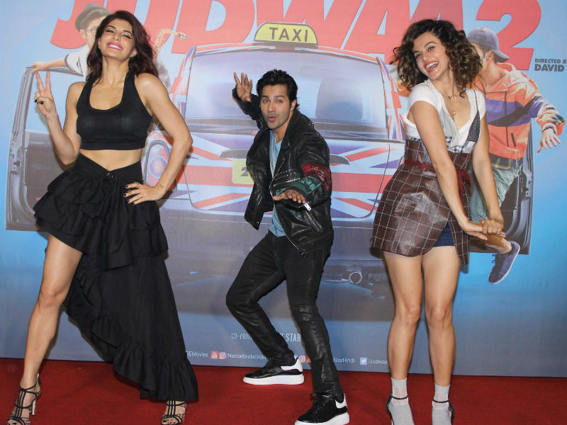 Judwaa 2 Outing With Varun, Jacqueline And Taapsee