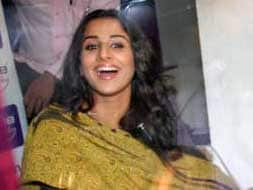 Photo : Now, Vidya sells tickets for her film