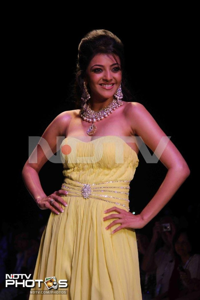 Kajal Agarwal makes ramp debut