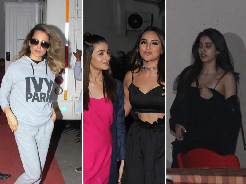 It Was A Busy Wednesday For Kangana, Alia, Jhanvi And Sonakshi