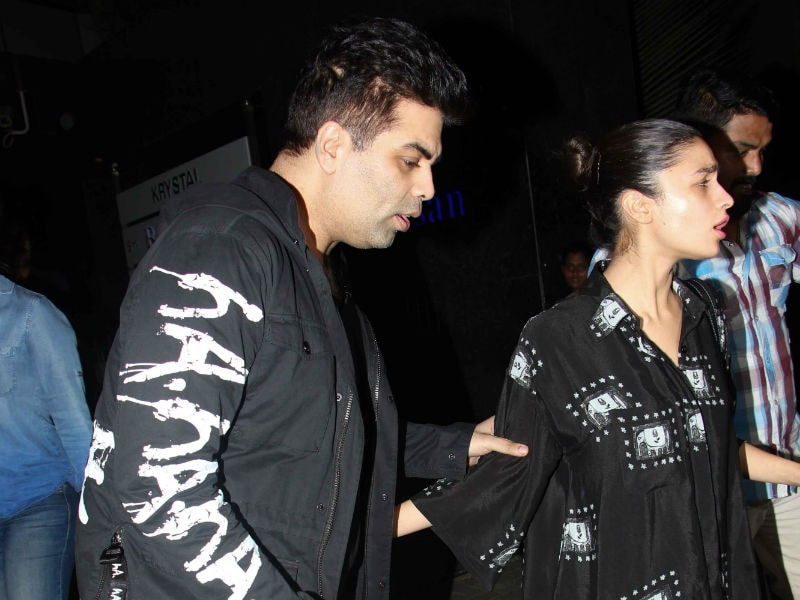 Karan Johar Dines With Alia Bhatt After Meeting His Twins