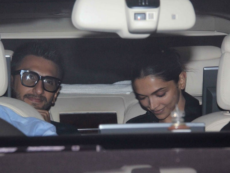 Deepika, Ranveer Arrive For Karan Johar's Party Befikre