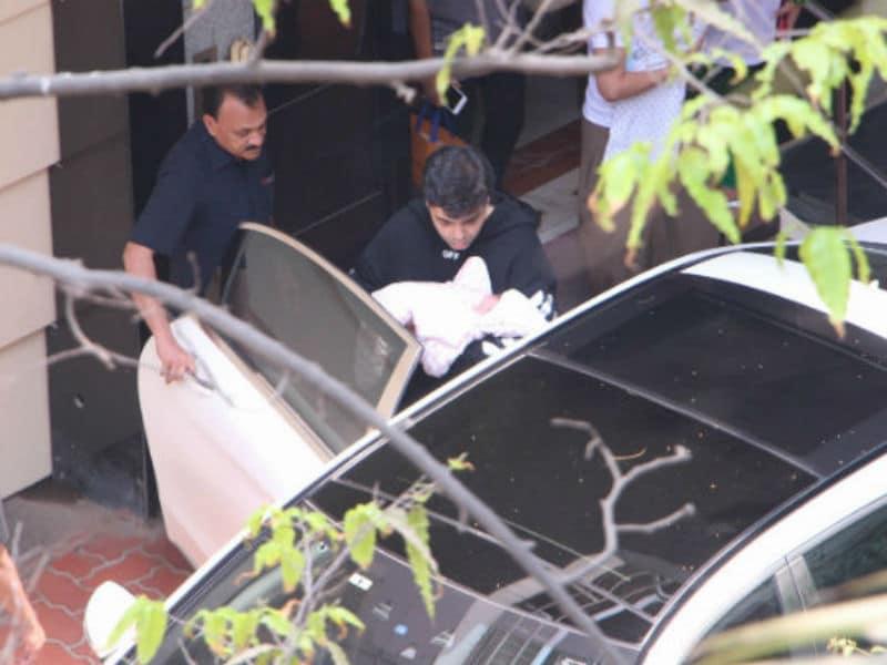 Karan Johar Takes His Twins Home