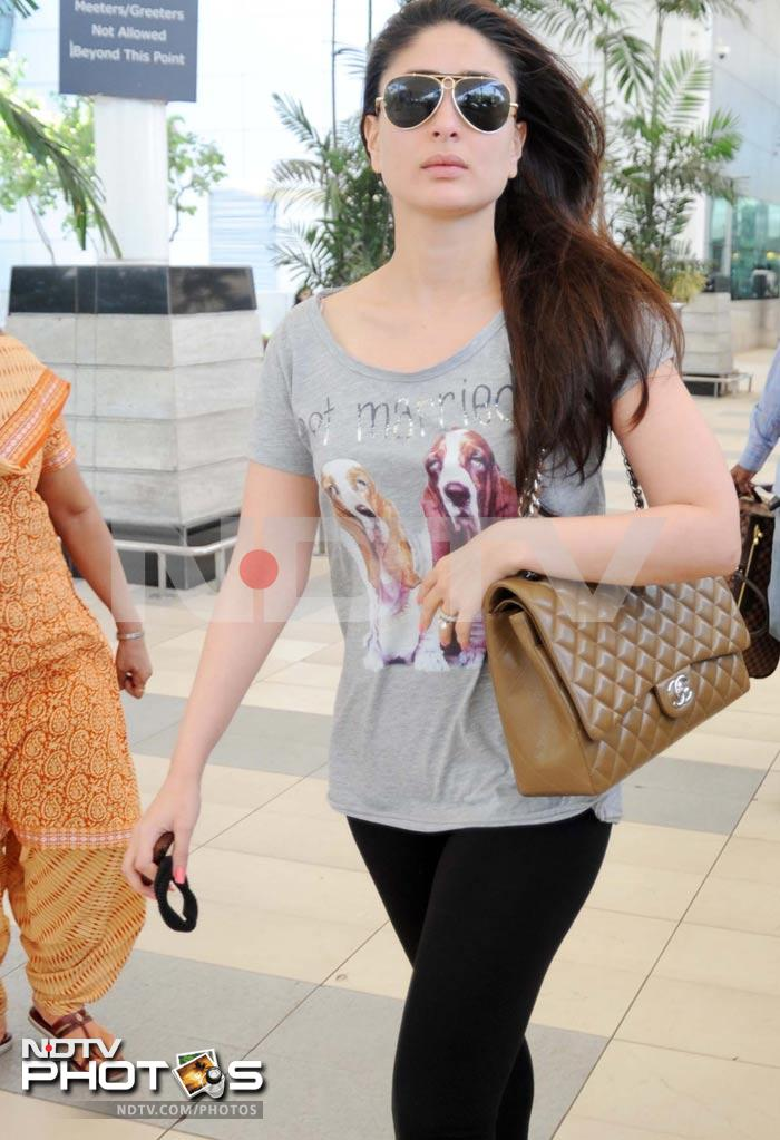 Fuss-free Kareena at the airport