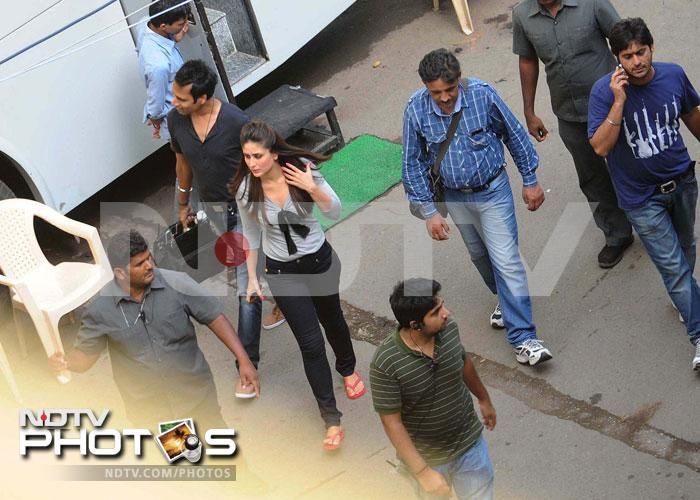On the sets: Kareena shoots for Heroine