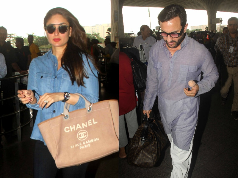 What A Sweetie. Saif Carries Kareena's Bag For Her At Airport