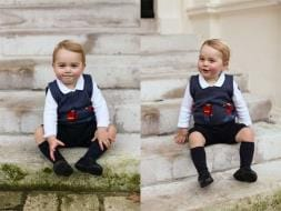 Photo : His Royal Cuteness, Prince George Poses for Christmas Portrait