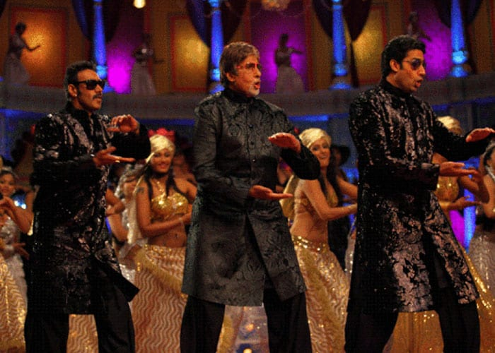Big B, Jr B and Ajay get jiggy for Bol Bachchan