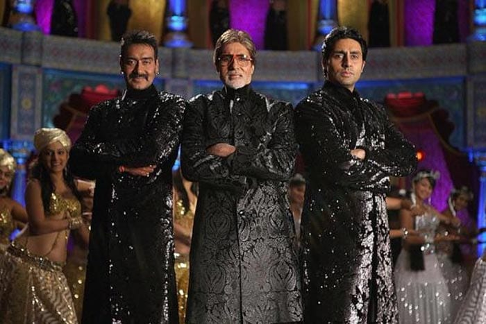 On the sets of Bol Bachchan: Big B, Abhishek, Ajay