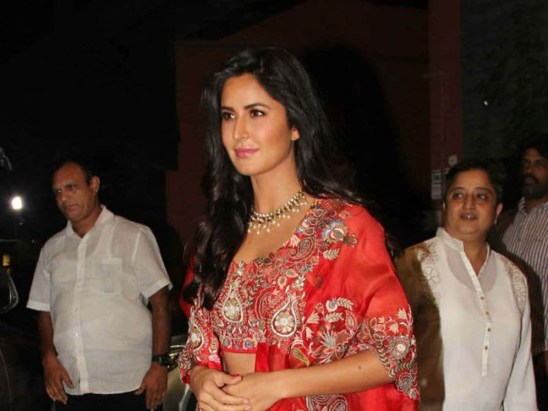 Katrina Kaif Brightened The Diwali Celebrations In Red