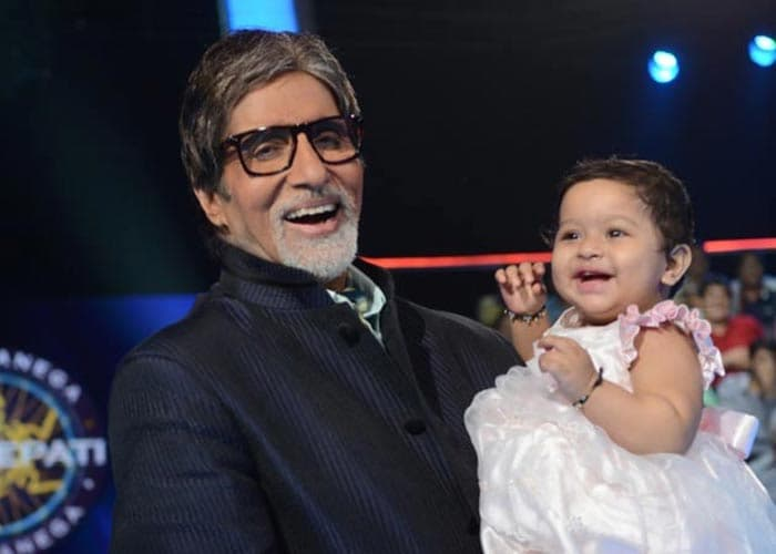 Who's the cute baby with Big B?