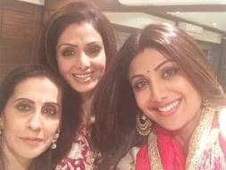 Photo : Karva Chauth Chands: Sridevi, Shilpa, Raveena, Maheep
