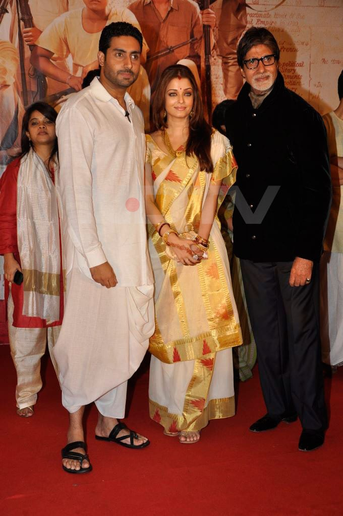 ash abh bigb Aishwarya, Abhishek go traditional bollywood gallery