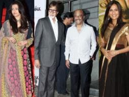 Photo : Papa kehte hain: Ash, Soundarya, Big B and Rajinikanth
