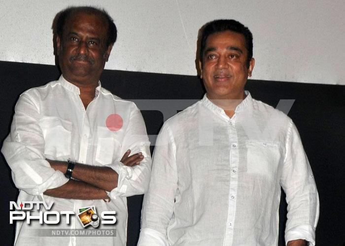 Superstar double whammy: Rajinikanth, Kamal Haasan at <i>Kumki</i> music launch