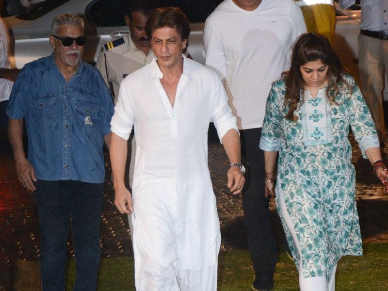 Shah Rukh Khan, Farah Khan, David Dhawan At Kundan Shah's Prayer Meet