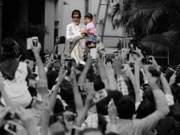 Photo : Bachchan Darshan: Big B, Aaradhya's Sunday With Fans