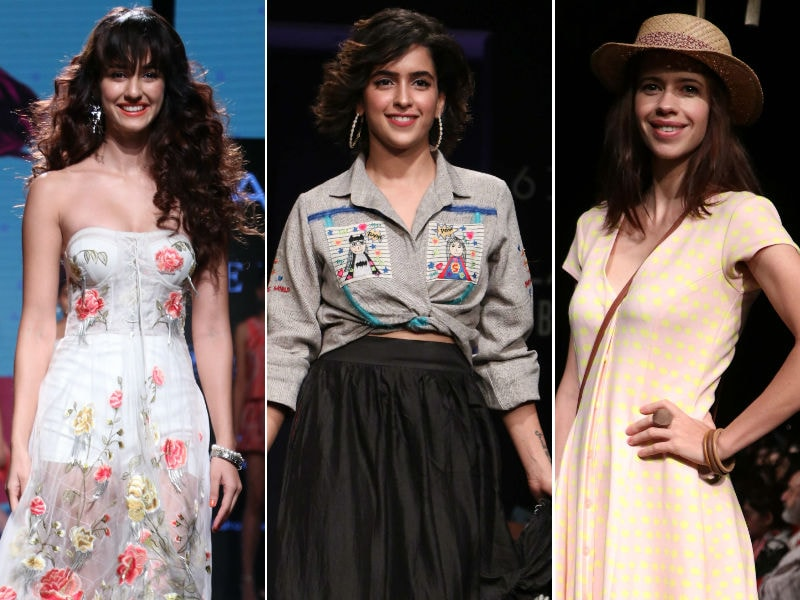 Lakme Fashion Week: Front Row Stars Disha, Sanya, Kalki, Sayani
