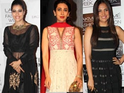 Photo : Manish's muses: Kajol, Karisma, Lara