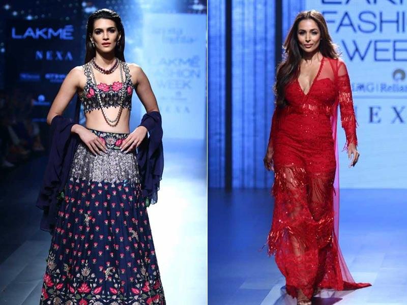 Lakme Fashion Week Day 5: Kriti Sanon And Malaika Arora Rule The Ramp