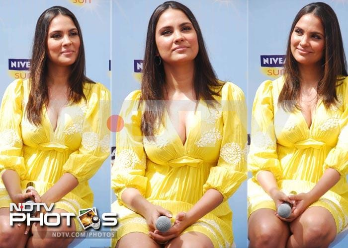 Lara Dutta is a yummy mummy in yellow