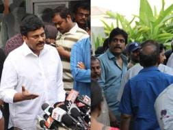 Photo : Chiranjeevi, Nagarjuna Bid Farewell to Daggubati Ramanaidu