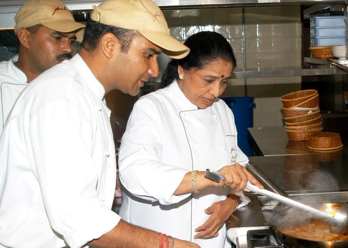 In the kitchen with Asha Bhosle