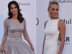 Photo : At Cannes, Mallika wilts, Sharon shines