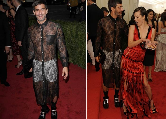 Will gender-bending Marc Jacobs start men-in-lace trend?