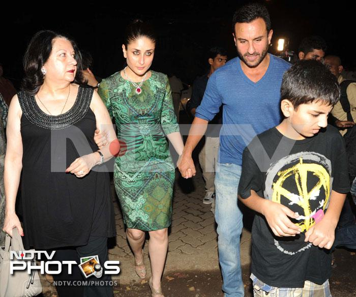 Saif, Kareena at Midnight Mass