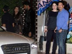 Photo : Aishwarya, Sachin and Anjali at Ambanis Party For Mumbai Indians